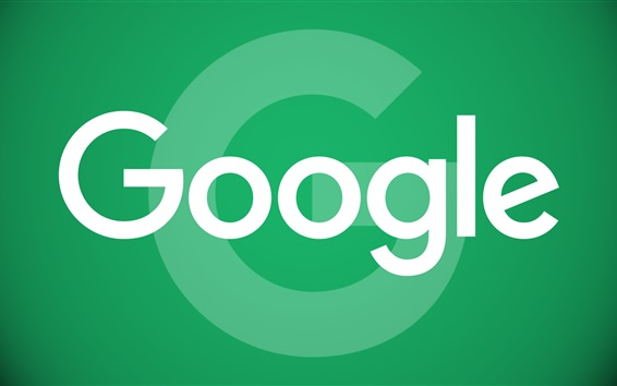 Wallpaper Google logo, green background