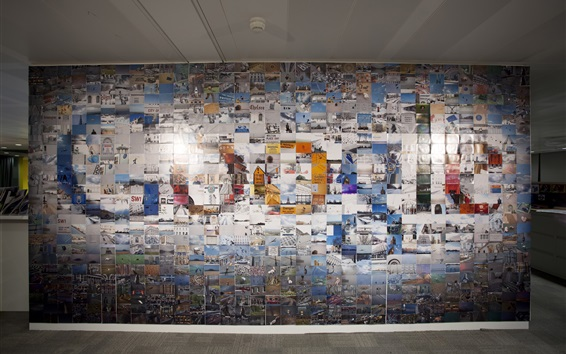 Wallpaper Google logo in the photo wall