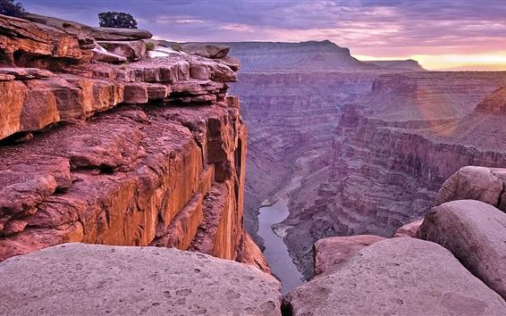Fondos de pantalla Parque Nacional del Gran Cañón, Arizona, EE.UU., hermoso amanecer