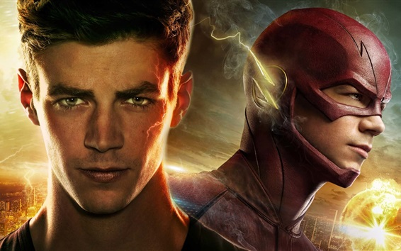 Fond d'écran Grant Gustin, The Flash Barry Allen