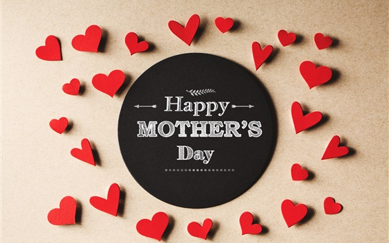 Wallpaper Happy Mother's Day, love hearts