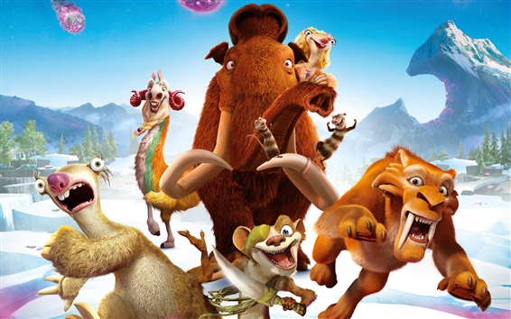 Wallpaper Ice Age 5: Collision Course, 2016 animated movie