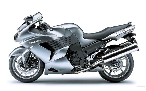 Wallpaper Kawasaki ZZR 1400 gray motorcycle