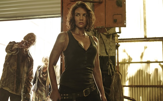 Wallpaper Lauren Cohan as Maggie Greene, The Walking Dead Season 5