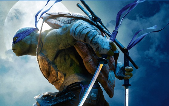 Wallpaper Leonardo, Teenage Mutant Ninja Turtles: Out of The Shadows