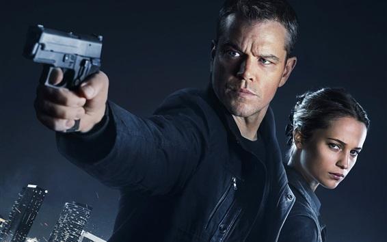 Fond d'écran Matt Damon Et Alicia Vikander, Jason Bourne 2016