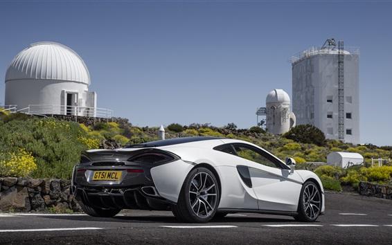 Fond d'écran McLaren 570GT vue arrière supercar blanc