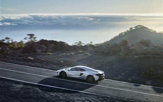 Обои McLaren 570GT белый Скорость суперкар