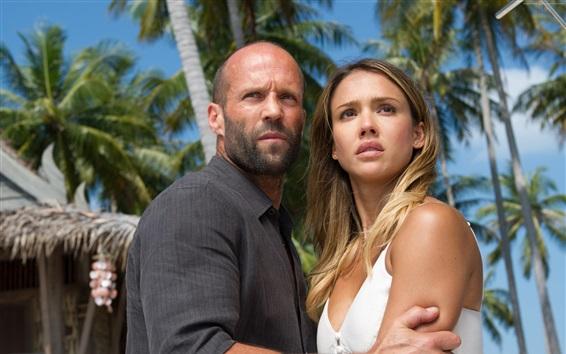 Fondos de pantalla Mecánico: resurrección, Jason Statham y Jessica Alba