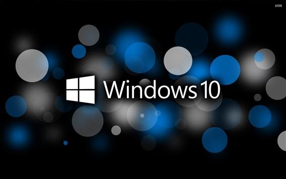 Fond d'écran Microsoft Windows 10 logo système, cercles, conception créative