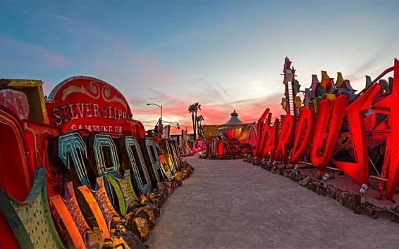 Papéis de Parede Neon Museum, Las Vegas, Nevada, EUA