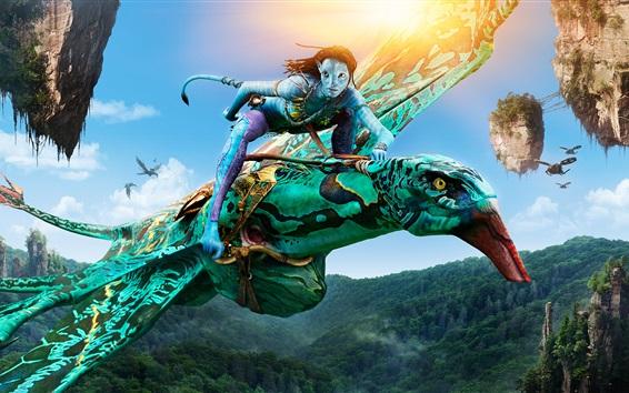 Papéis de Parede Neytiri em Avatar, Banshee montando