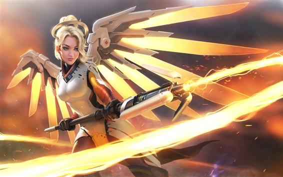 Wallpaper Overwatch, Mercy