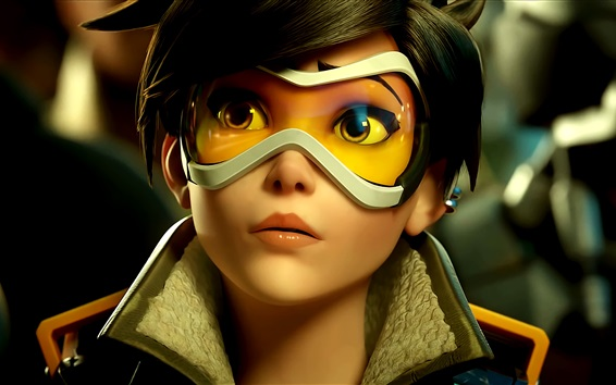 Wallpaper Overwatch, Tracer