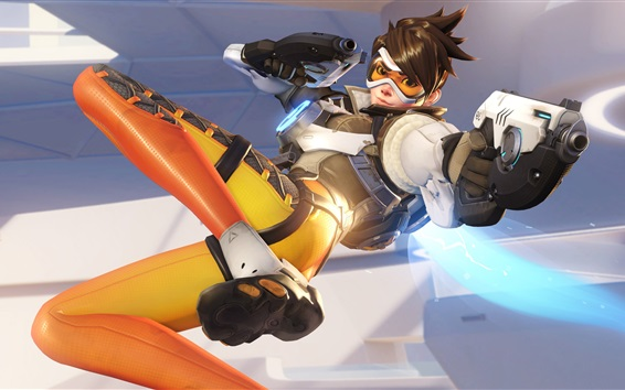 Wallpaper Overwatch, tracer, PC game