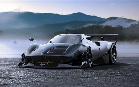 Wallpaper Pagani Huayra concept tuning black supercar