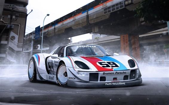 Wallpaper Porsche 918 supercar front view