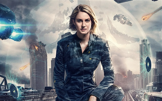 Wallpaper Shailene Woodley as Tris, Allegiant 2016
