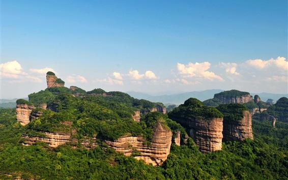 Обои Шаогуань Danxia Гора, китайский пейзаж природа