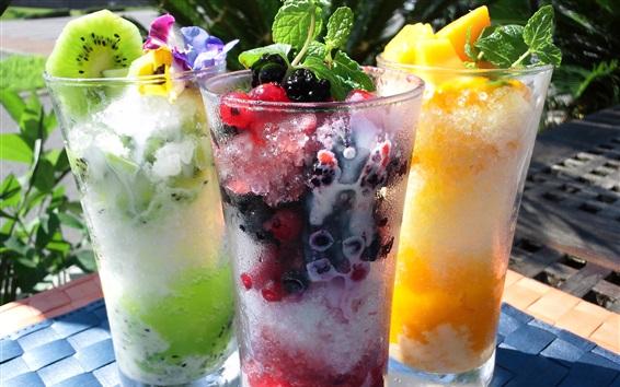 Hielo raspado bebidas de t frutas vasos de cristal for Frutas de cristal