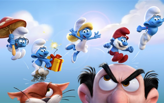 Wallpaper Smurfs 2017