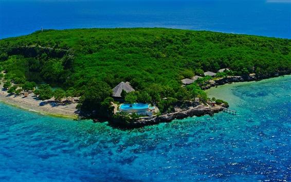 Wallpaper Sumilon island, Cebu, Philippines, sea, forest, resort