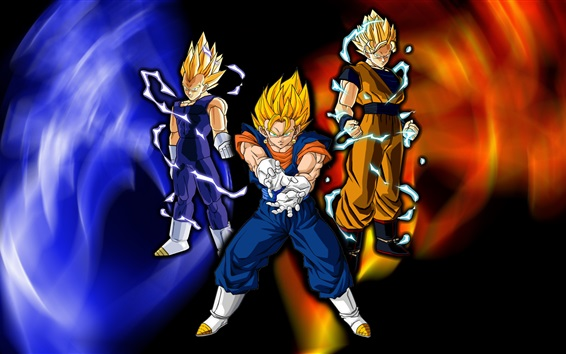Fondos de pantalla Super Saiyan, Dragon Ball Z, dibujos animados de anime
