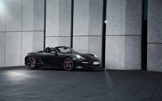 Fondos de pantalla TechArt Porsche Boxster roadster negro vista lateral
