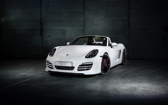 Обои TechArt Porsche Boxster белый родстер