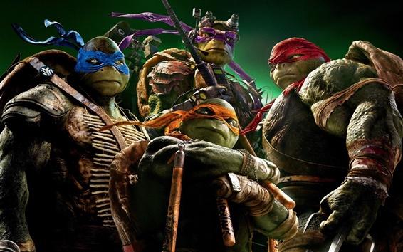 Fondos de pantalla película de dibujos animados Las Tortugas Ninja