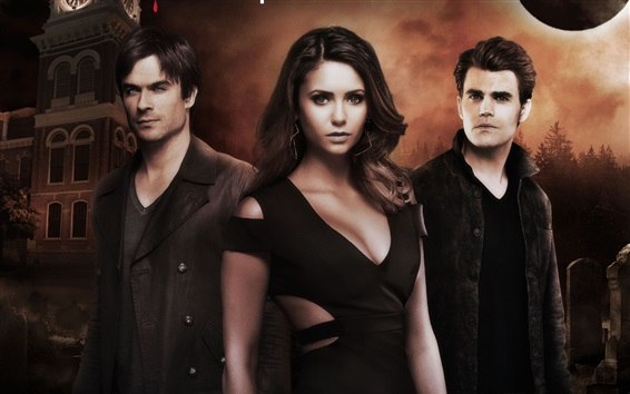 Wallpaper The Vampire Diaries, classic TV series