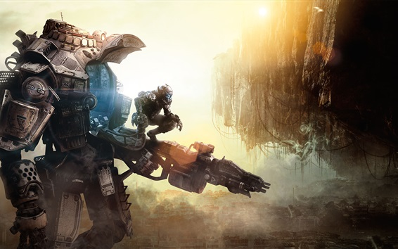 Wallpaper Titanfall, Xbox game