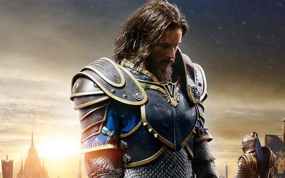 Fondos de pantalla Travis Fimmel, Anduin Lothar, 2016 Warcraft