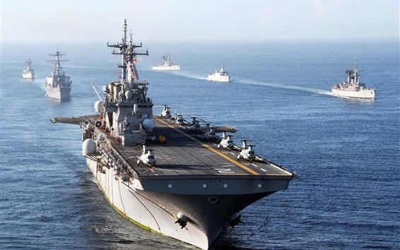 Fond d'écran USS Essex, marine, mer
