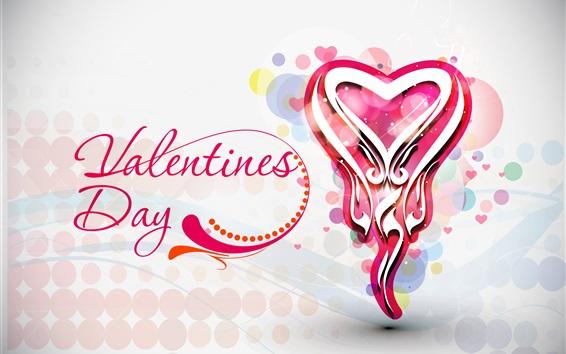 Fondos de pantalla Día, corazones del amor, diseño del arte de San Valentín