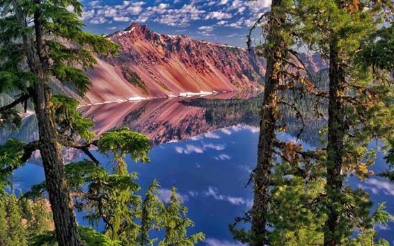 Обои Сторож Пик, Crater Lake Национальный парк, штат Орегон, США