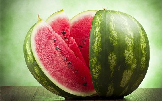 Wallpaper Watermelon, slices, summer delicious fruit