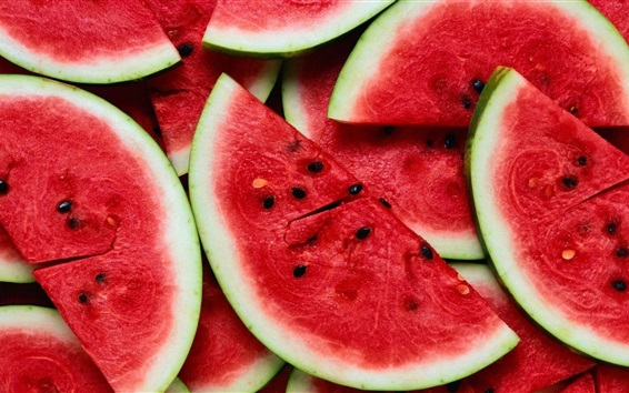 Wallpaper Watermelon slices, summer fruits