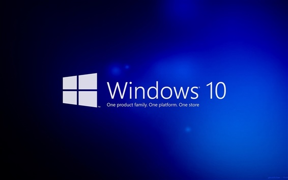 Обои Windows 10, синий фон