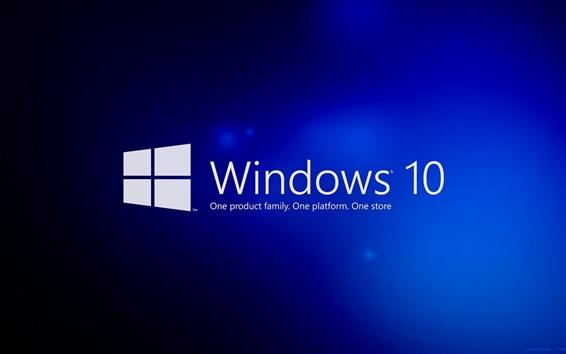 Papéis de Parede Windows 10, fundo azul
