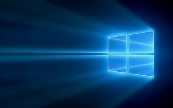 Wallpaper Windows 10, blue light