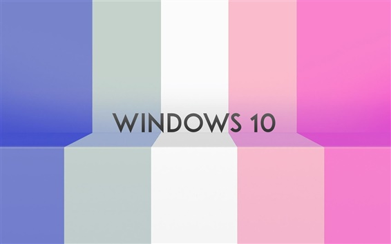 Wallpaper Windows 10 system, colorful stripes background