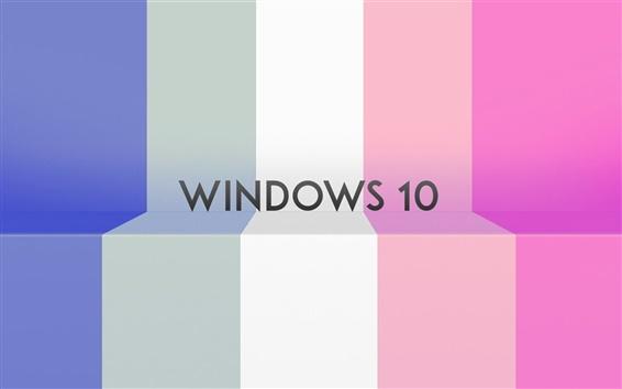 Fondos de pantalla sistema de Windows 10, rayas de colores de fondo
