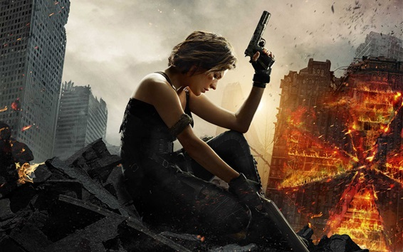 Fondos de pantalla 2017 Resident Evil: The Final Chapter, Milla Jovovich