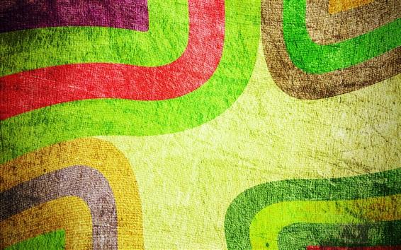 Обои Абстрактный фон, красочные цвета, узоры, линии