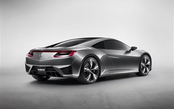 Wallpaper Acura NSX concept car back view