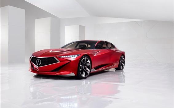 Fondos de pantalla Acura coche rojo Concepto de precisión