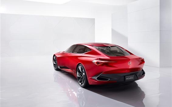 Wallpaper Acura Precision Concept red supercar back view
