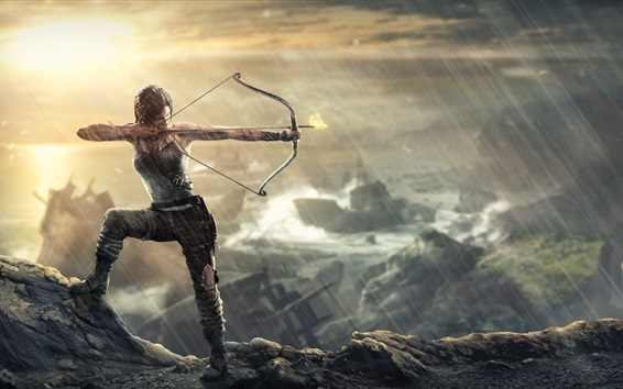 Wallpaper Archer Lara Croft in Tomb Raider