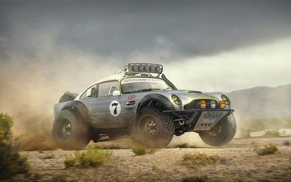 Wallpaper Aston Martin DB5 off road car, Dakar Race